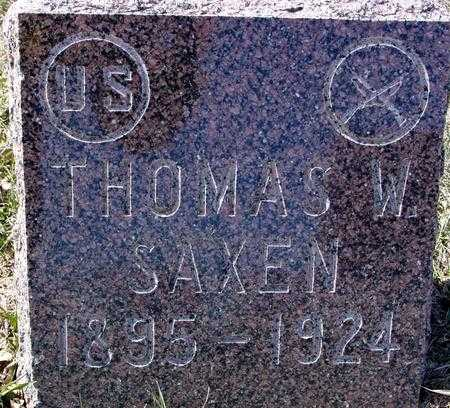 SAXEN, THOMAS W. - Ida County, Iowa | THOMAS W. SAXEN
