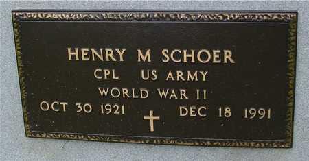 SCHOER, HENRY M. - Ida County, Iowa | HENRY M. SCHOER