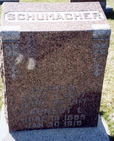 SCHUMACHER, EARNEST L - Ida County, Iowa | EARNEST L SCHUMACHER