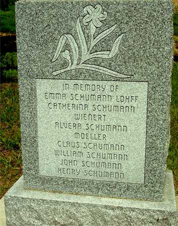 SCHUMANN, FAMILY, IN MEMORY - Ida County, Iowa | FAMILY, IN MEMORY SCHUMANN