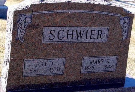 SCHWIER, FRED & MARY K. - Ida County, Iowa | FRED & MARY K. SCHWIER