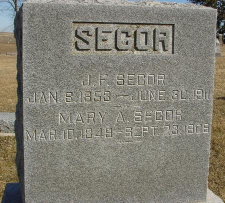 SECOR, J. F.  & MARY - Ida County, Iowa | J. F.  & MARY SECOR