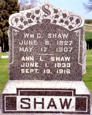 SHAW, WILLIAM - Ida County, Iowa | WILLIAM SHAW