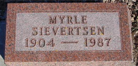 SIEVERTSEN, MYRLE - Ida County, Iowa | MYRLE SIEVERTSEN