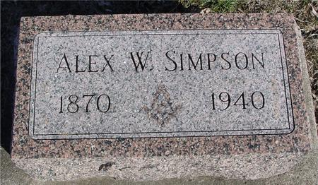 SIMPSON, ALEX. W. - Ida County, Iowa | ALEX. W. SIMPSON