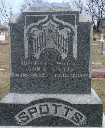 SPOTTS, HETTIE L. - Ida County, Iowa | HETTIE L. SPOTTS