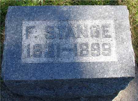 STANGE, F. - Ida County, Iowa | F. STANGE