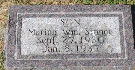 STANGE, MARION WM. - Ida County, Iowa | MARION WM. STANGE