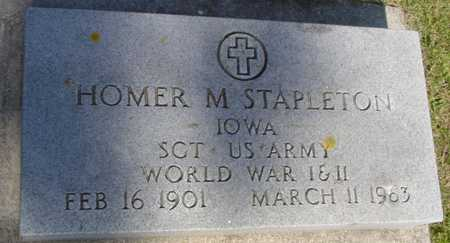 STAPLETON, HOMER M. - Ida County, Iowa | HOMER M. STAPLETON