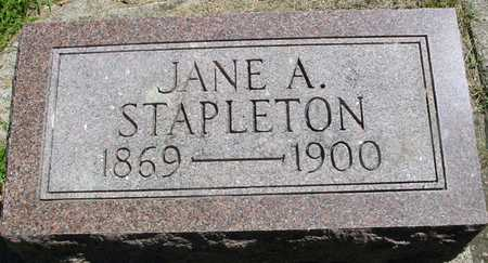 STAPLETON, JANE A. - Ida County, Iowa | JANE A. STAPLETON