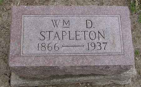 STAPLETON, WILLIAM D. - Ida County, Iowa | WILLIAM D. STAPLETON