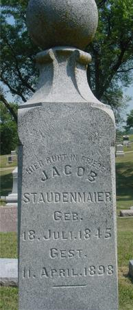 STAUDENMAIER, JACOB - Ida County, Iowa | JACOB STAUDENMAIER