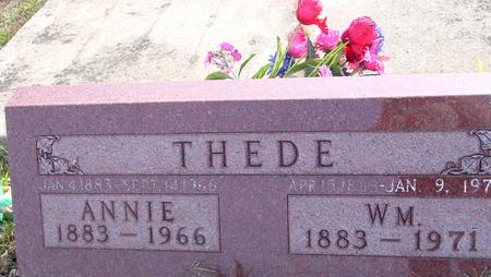 THEDE, WILLIAM & ANNIE - Ida County, Iowa | WILLIAM & ANNIE THEDE