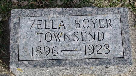 BOYER TOWNSEND, ZELLA - Ida County, Iowa | ZELLA BOYER TOWNSEND