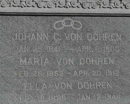 VON DOHREN, JOHANN C. & MARIA - Ida County, Iowa | JOHANN C. & MARIA VON DOHREN