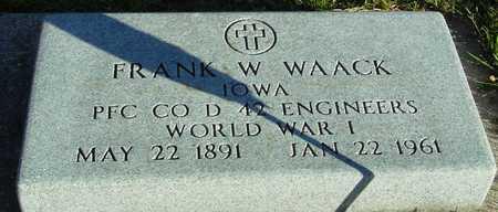 WAACK, FRANK - Ida County, Iowa | FRANK WAACK
