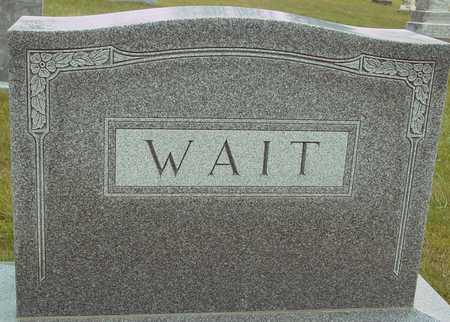 WAIT, FAMILY MARKER - Ida County, Iowa | FAMILY MARKER WAIT