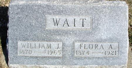 WAIT, WILLIAM J. & FLORA - Ida County, Iowa | WILLIAM J. & FLORA WAIT