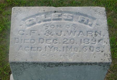 WARN, GILES R. - Ida County, Iowa   GILES R. WARN
