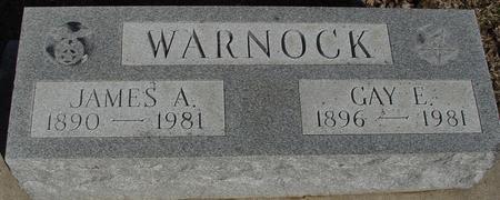WARNOCK, JAMES & GAY - Ida County, Iowa   JAMES & GAY WARNOCK