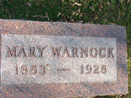WARNOCK, MARY - Ida County, Iowa | MARY WARNOCK