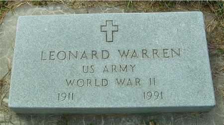 WARREN, LEONARD - Ida County, Iowa   LEONARD WARREN