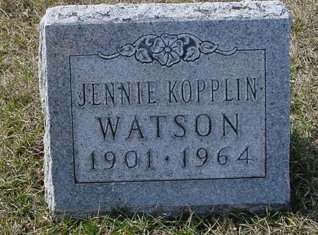 KOPPLIN WATSON, JENNIE - Ida County, Iowa | JENNIE KOPPLIN WATSON
