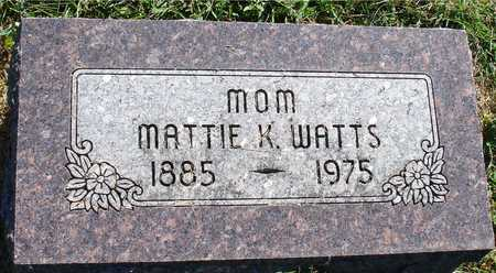 WATTS, MATTIE K. - Ida County, Iowa | MATTIE K. WATTS