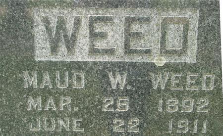 WEED, MAUD  W. - Ida County, Iowa | MAUD  W. WEED