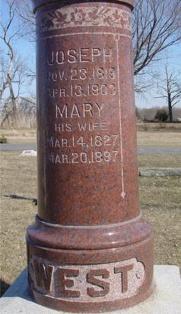 WEST, JOSEPH & MARY - Ida County, Iowa | JOSEPH & MARY WEST