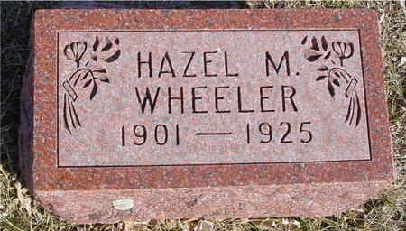 WHEELER, HAZEL M. - Ida County, Iowa | HAZEL M. WHEELER