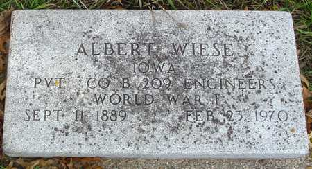 WIESE, ALBERT - Ida County, Iowa | ALBERT WIESE