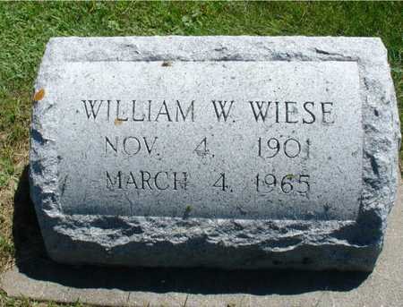 WIESE, WILLIAM W, - Ida County, Iowa | WILLIAM W, WIESE