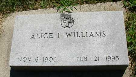 WILLIAMS, ALICE I. - Ida County, Iowa | ALICE I. WILLIAMS