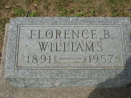 WILLIAMS, FLORENCE B. - Ida County, Iowa | FLORENCE B. WILLIAMS