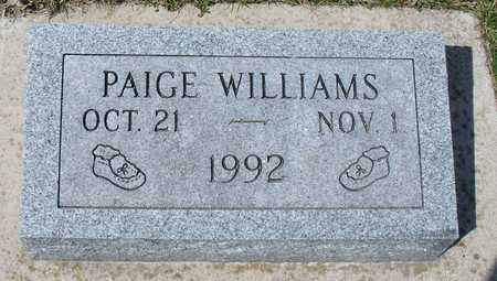 WILLIAMS, PAIGE - Ida County, Iowa | PAIGE WILLIAMS
