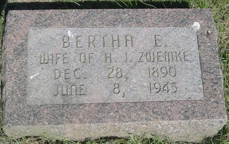 ZWEMKE, BERTHA - Ida County, Iowa | BERTHA ZWEMKE