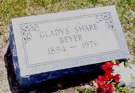 SHARE BEYER, GLADYS - Iowa County, Iowa | GLADYS SHARE BEYER