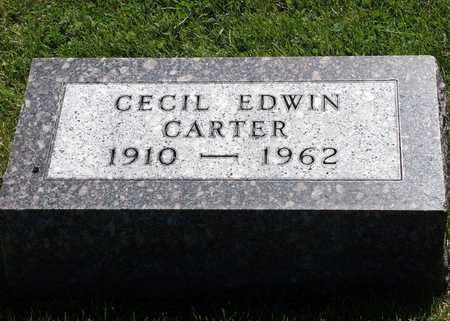 CARTER, CECIL EDWIN - Iowa County, Iowa | CECIL EDWIN CARTER