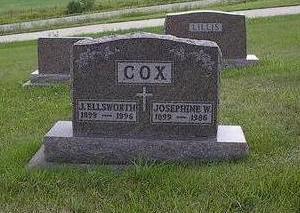 COX, JOSEPHINE W. - Iowa County, Iowa | JOSEPHINE W. COX