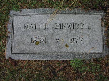 DINWIDDIE, MATTIE - Iowa County, Iowa | MATTIE DINWIDDIE