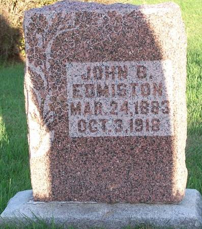 EDMISTON, JOHN B. - Iowa County, Iowa | JOHN B. EDMISTON