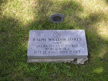 HAKES, RALPH WILLIAM - Iowa County, Iowa | RALPH WILLIAM HAKES