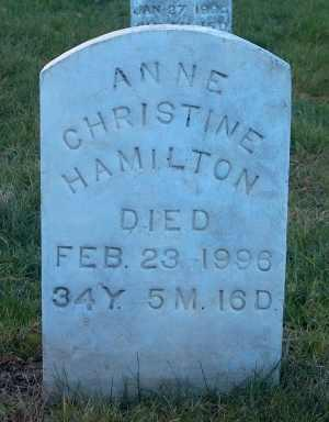 AMES HAMILTON, ANNE CHRISTINE - Iowa County, Iowa | ANNE CHRISTINE AMES HAMILTON