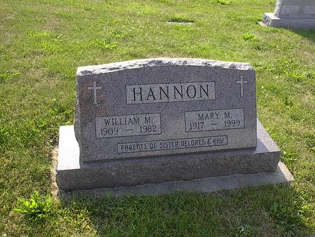 HANNON, MARY M. - Iowa County, Iowa | MARY M. HANNON