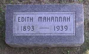 MAHANNAH, EDITH - Iowa County, Iowa | EDITH MAHANNAH