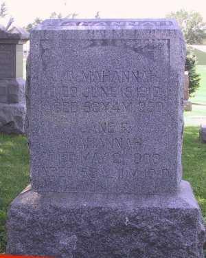 MAHANNAH, JANE FRANCES - Iowa County, Iowa | JANE FRANCES MAHANNAH