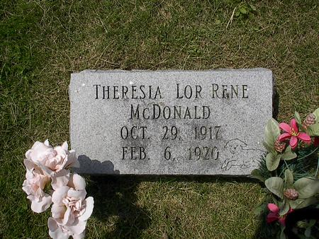 MCDONALD, THERESIA LOR RENE - Iowa County, Iowa | THERESIA LOR RENE MCDONALD