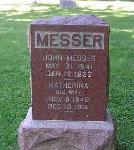 MESSER, KATHERINA - Iowa County, Iowa | KATHERINA MESSER