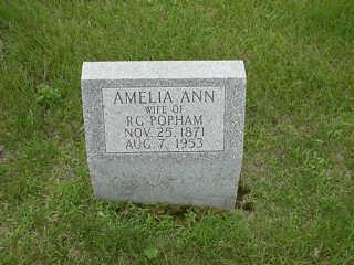 JONES POPHAM, AMELIA - Iowa County, Iowa | AMELIA JONES POPHAM